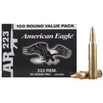 Federal AE 223 55GR FMJ 500RD Case-(5)100rd Boxes