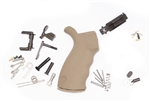 Spikes Tactical AR-15 Enhanced Lower Parts Kit FDE WITHOUT Trigger Group