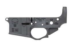 Spike's Tactical Lower (Multi) Forged PUNISHER Stripped AR Lower-Bullet Markings-STLS015