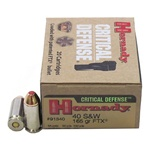 Hornady 40S&W Critical Defense Grain Flex Tip Expanding 165gr - 20rd Box