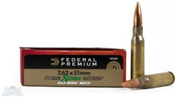 Federal 7.62x51 BTHP Gold Match 175gr - 20rd box