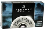 Federal H13200 Premium Power Shok Low Recoil 00 9 Pellet Buck Shot-(5) Shells/Box