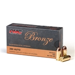 PMC Bronze 380ACP 90gr FMJ - 50rds