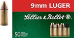 Sellier & Bellot 9mm FMJ 115gr - 50rd box