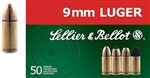 Sellier & Bellot 9mm FMJ 124gr - 50 Rounds