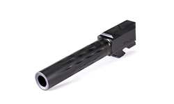 Faxon Firearms Glock 19 Flame Fluted Match Series Barrels, 416-R, Black Nitride