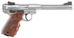 "Ruger Mark IV Hunter 22LR 6.8"" Stainless with Target Grips"