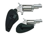 North American Arms 22 WMR Revolver Holster/Grip Combo 5rd Stainless 1 1/8""