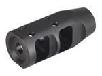 "JP Large-Profile Compensator for Bull Barrel, 1.2"" OD, Tapered to .925 Barrel with 5/8x24 TPI .350 Exit"