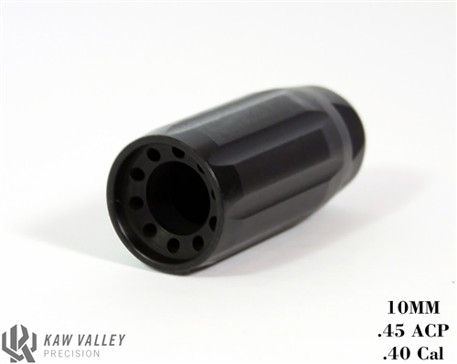 Kaw Valley Precision Linear Comp for 40S&W/45ACP/10MM Carbines and  Pistols-5/8x24 Thread