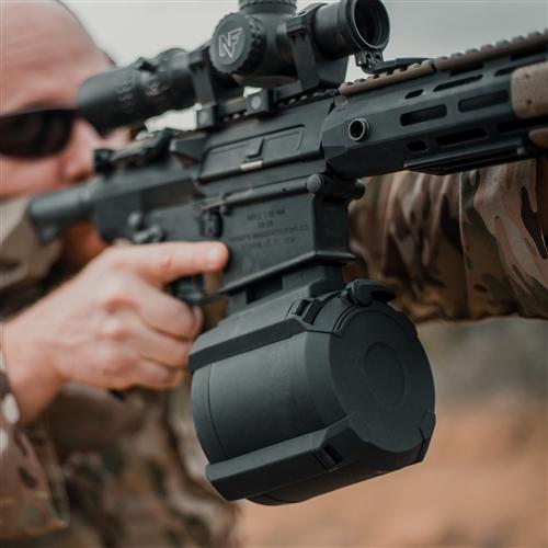 MAGPUL 308 PMAG Gen M3 D-50 LR/SR 50rd Drum Mag - KAC SASS/MK11, SR25, DPMS  and LMT MWS