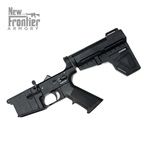 New Frontier Armory LW-15 Complete Polymer Pistol Lower Receiver W/ Shockwave Brace