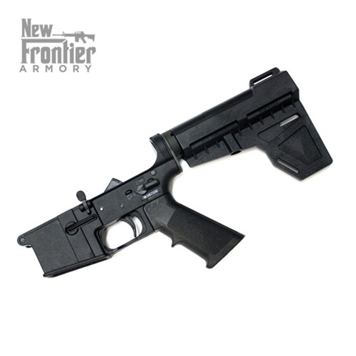 New Frontier Armory LW-15 Complete Polymer Pistol Lower Receiver W/  Shockwave Brace