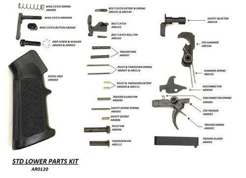 Rock river lower parts kit single stage trigger ar0120 (lpk)