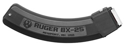 RUGER 10/22 25rd Magazine, Stainless Steel Feed Lips-BX25- Ruger