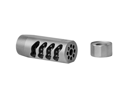 Seekins Precision ATC 1/2x28 Muzzle Brake-Bead Blasted Stainless Steel