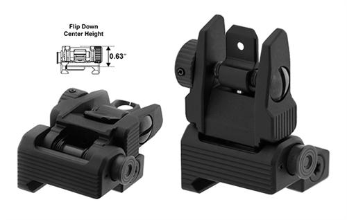 utg accu sync spring loaded ar15 flip up rear sight black